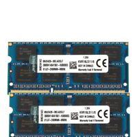 New Kingston 16GB 2X 8GB PC3-12800S DDR3 1600MHz Laptop RAM Memory SO-DIMM 16G