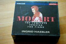 Mozart: Die Klaviersonaten - Ingrid Haebler - Denon 5 CDs NEU