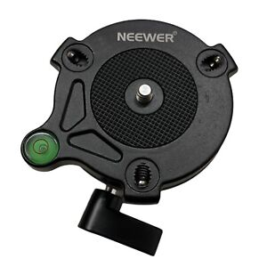Neewer Tripod Leveling Base with Offset Bubble Level for Canon Nikon DSLR NW-10