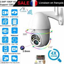 1080P Wifi IP Caméra Sans fil 4X Zoom HD Nuit In-extérieur Surveillance Sécurité