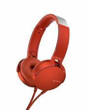 Sony MDR-XB550AP EXTRA BASS Headphones Red NEW from Japan F/S