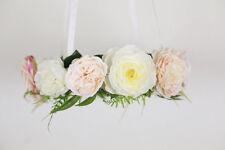 Flower mobile, Floral baby mobiles, bohemian nursery decor, flower chandeliers