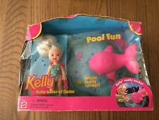 1996 Pool Fun Kelly Baby Sister of Barbie and her Pink Whale Original Box