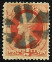 "Fancy Cancel ""Nice Wedges Radial"" Sc #178/183 2 Cent Jackson 1875-1879 US 73D24"