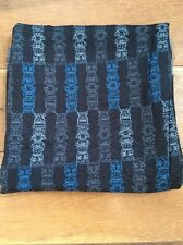 Tiki Tribal Totem Repeat Pattern Fabric In Blues Clothing Craft Sewing 2 YARDS
