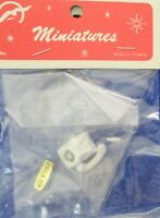 Dollhouse Miniature White Telephone 1:12 Scale New VINTAGE