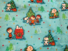 Peanuts Snoopy Charlie Brown Christmas Fabric -  28 x 43