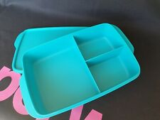 TUPPERWARE - Divided Lunch Box - Aquamarine