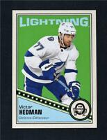 2019-20 UD OPC O-Pee-Chee Retro Blank Back Victor Hedman - Tampa Bay Lightning