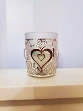 New Tea Light Candle Holder with Silver Lasercut Hearts