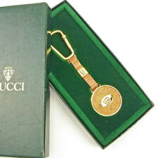 Gucci key ring Key holder Gold Beige Woman unisex Authentic Used T3647