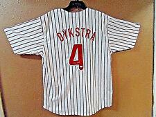 Lenny Dykstra signed White Pinstripe TB Custom Stitched Baseball Jersey XL- JSA