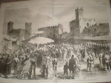 Presentation of an address to Prince of Wales Caernarvon Castle Wales 1868 print