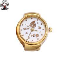 Reloj anillo oro peces + regalo pendientes