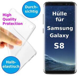 Samsung Galaxy S8 Handy Hülle Silikon Bumper Case durchsichtig Schutz TPU