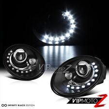 2006-2010 Volkswagen Beetle BASE TDI GLS GLX CABRIO 2.5 Black LED DRL Headlights