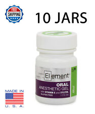 10x JARS ELEMENT 20% Benzocaine Topical Anesthetic Gel MINT Tattoo Piercing