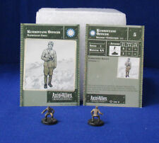 Axis & Allies Miniatures SET II 2 Kuomintang Officers #2/45 & Stat Cards CH5 G