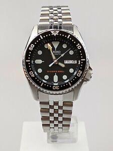 Seiko Diver's 200m Automatic Black Dial Steel Bracelet 37mm SKX013K2