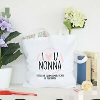 Borsa Shopper Personalizzata I Love You Nonna