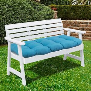 """Sweet Home Collection 44"""" x 19"""" Tufted Outdoor Loveseat Cushion"""
