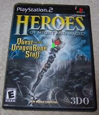 Heroes of Might and Magic: Quest for the Dragon Bone Staff PS2 w/ instructions