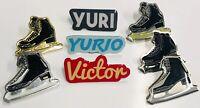 Yuri on Ice Pin Lot Yuri Yurio Victor Anime Manga Skates Yuri!!!
