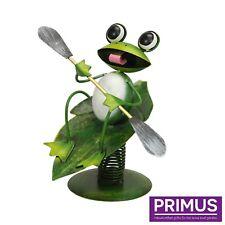 "Primus boule ""Grenouille Métal Jardin Baladeuse Sculpture Ornement PQ1328 idée cadeau"
