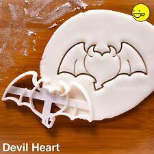 Heart with Devil Wings cookie cutter |Love dark angel Demon Satan Hell halloween