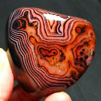 TOP 94.5G Natural Polished Banded Agate Crystal Madagascar Healing  A212