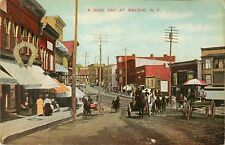 A Busy Day On Main Street At Malone NY