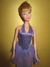 B744) BALLERINA BARBIE MATTEL 1998 LILA BALLETT-KLEID+2 ARMREIFEN+BALLETT-SCHUHE