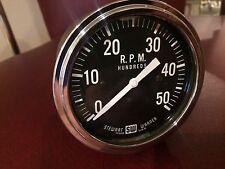 Vintage Stewart Warner SW 5000 RPM Tachometer Gauge Instrument Hot Rod Rat SCTA