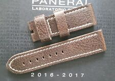 Genuine OEM Officine Panerai 24/22mm Marrone Cinturino in Pelle Vintage Nuovo!!!