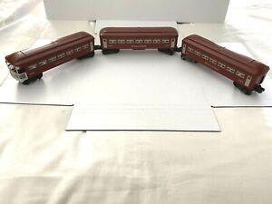 1946 LIONEL TRAINS-3 LOT OBSERVATION 2443 & PULLMANS 2442 W/LIGHT-O-GAUGE  MINTY