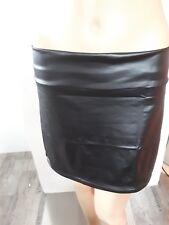 Femmes cuir wetlook jupe asymétrique avec RV T M-L 40-42 NEUF