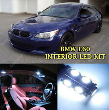 BMW SERIE 5 E60 E61 Bianco Puro 21 PZ LED LUCE INTERNI ESTERNI KIT SET