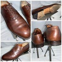 Paul Stuart Oxford Dress Shoes Sz 9.5 Men Brown Lace Round Toe Italy YGI J0S-70