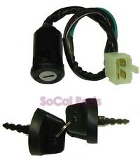 4-Wire Ignition Key Switch (Snap on style, Wide plug) for ATV, Electric Scooter