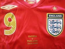 New Authentic Umbro 2006 England Rooney L/S Jersey VS Sweden Germany World Cup