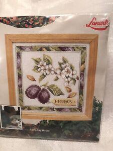 lanarte counted cross stitch kit prunes