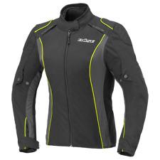 Cara Damen Jacke schwarz / neon-gelb Motorradjacke Textiljacke