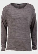 **NEW** EX-CHAINSTORE LILAC & BLACK MARL METALLIC EFFECT CASUAL SLOUCH TOP 8-20