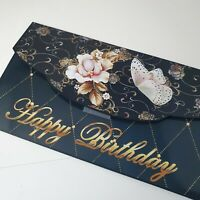 Handmade birthday envelope black and gold card/money wallet envelope pocket