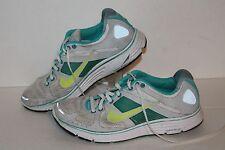 Nike Lunar Elite + Running Shoes, #386478-103, Grey/Teal/Yellow, Womens US 8