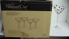 Pampered Chef PPF-1 DOTS Martini Stems Set of Four  SIMPLE ADDITIONS NEW in Box