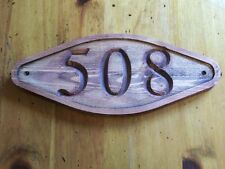 Carved Address Sign Rounded Diamond Plaque