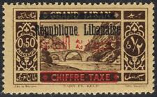 LEBANON 1928 POSTAGE DUE W/ BILINGUAL OVPT ERROR DOUBLE RE ARABIC & BARS SG D145