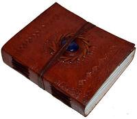 Handmade Medium Leather Sketchbook Diary Journal Notebook Petal Paper & Stone