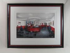 Walt Bell - Coffee Shop - Original Watercolor Painting '97, Segafredo Zanetti